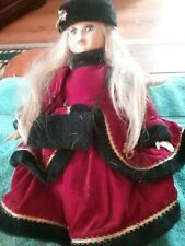 """Seymour Mann Connoisseur Collection Doll """"Nancy"""" 15 Inches Limited Ed. CHRISTMAS"""