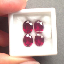 4pcs 8x6mm Oval Top AAA+ Gemstone Natural Top Blood Red Ruby Madagascar (VDO)