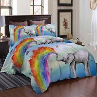 Rainbow Long Nose 3D Printing Duvet Quilt Doona Covers Pillow Case Bedding Sets