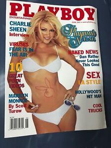 Playboy Magazine June 2001 Brande Roderick POTY