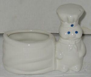 Vtg 2002 Pillsbury Dough Boy White Glazed Porcelain Sponge Holder Kitchen Decor