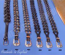 Bullet New Unisex 100% Leather Handmade Punk Gothic Biker UK Design Waist Belts