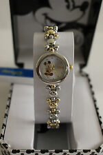 New Disney  Mickey Mouse two tone ladies Watch. Quartz,Warranty.Box.Free Ship