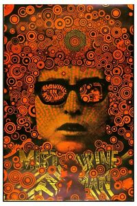 Bob Dylan * Psychedelic Blowin' in the Mind * Head Shop Poster 1967  12x18