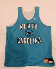 Vintage 90's Nike Unc Tar Heels Basketball Reversible Practice Jersey Size Large