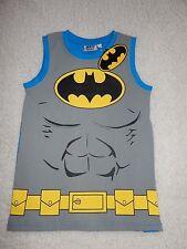 BNWT Boys Batman Vest T-Shirt In Size 9-10 Years