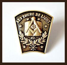 """High Quality Masonic 1"""" Let There Be Light Freemason Lapel Pin tie tack hat"""