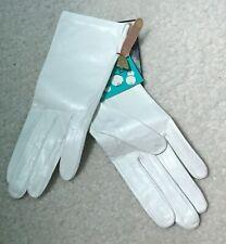 Vintage Miss Aris Kid Leather Gloves White Sz 5.5 nwt First Communion Machine