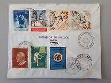 timbres Colombie sur enveloppe 1964