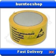 ESD Anti Static yellow packing tape protection warning printed hazard 66m reel