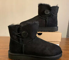 UGG Mini Bailey Button II Woman's Boots 1016422 BLACK SZ 9 AUTHENTIC BRAND NEW