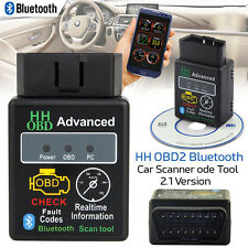 OBDII Scanner Code Reader Bluetooth CAN OBD2 Scan Tool f/ ELM327 Torque Android
