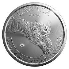 2017 Royal Canadian Mint $5 Silver Predator Series Lynx 1 oz Silver Coin