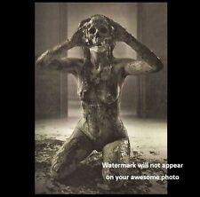 Scary Vintage Creepy Devil Girl PHOTO Nude Demon Freak Zombie Mask