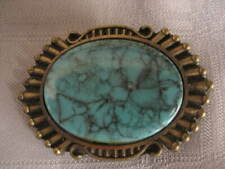 Women's Turquoise Brass Belt Buckle