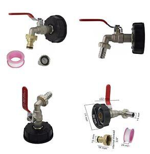 ROBINET RACCORD pour cuve IBC ou BIDON pour Récupérateur d'eau de pluie