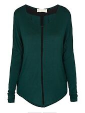 Emmie McCourts Contrast Top Green Ladies Size Small Box4555 G