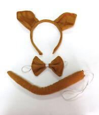 Squirrel Animal Zoo Farm Headband Ears Bow Tie Tail Set Costume Fancy Dress New
