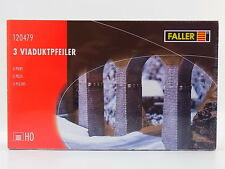 LOT 32845 | Faller HO 120479 3 Viadukt-Pfeiler Piers Brücke Bausatz NEU in OVP