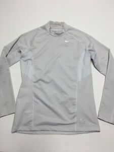 Nike Pro Combat  Dri-fit Long Sleeve Compression Shirt Size Medium Grey Fitted