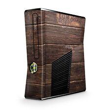 Xbox 360 Slim Skin Aufkleber Schutzfolie Sticker Skins Sticker Design Brown Wood
