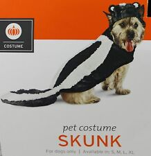 Halloween Black & White Skunk Pet Dog Costume Size Large 25-50 lbs 18-22 in NWT