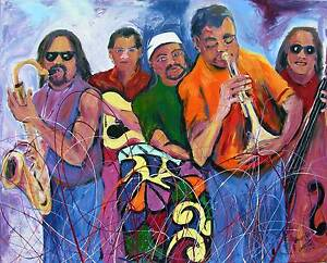 Jamaican JAZZ Club Raggae Original Art PAINTING DAN BYL Collector Investor XXL