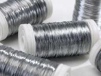 1 x SILVER FLORIST REEL WIRE - THIN - 30 SWG - 100 gram REEL