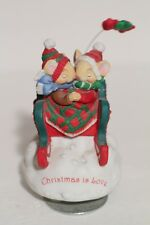 San Francisco Music Box Co. Christmas is Love Musical Mouse Figure