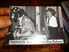 Ancien Carte Clown Mammouth de la Hulotte et Mimi Dubémol : Cirque Circus