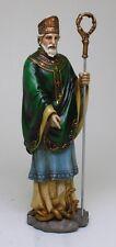 ST. PATRICK FIGURINE STATUE.HOLY CHRISTIANITY DECOR. APOSTLE OF IRELAND