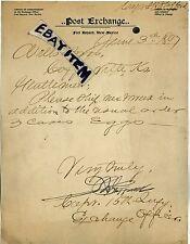 1897 FORT BAYARD New Mexico CAPT S R STAFFORD 15th Infantry INDIAN WARS U S Army