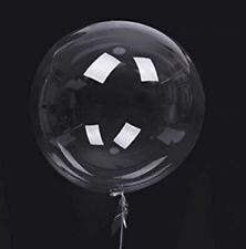 Riesen XXL Luftballon glas-klar durchsichtig transparent befüllbar Ballon Deko