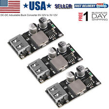 3PCS DC-DC Adjustable Buck Converter USB Step Down Power Supply Module 6V-32V