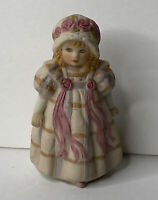 Vintage June Amos Grammer 1989 Standing Figurine by SCHMID: Girl In A Dress
