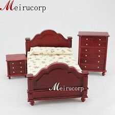 1:12 Scale Dollhouse Miniature Furniture Well Made Handmade Bedroom Set