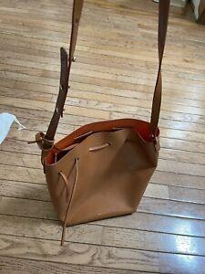 Mansur Gavriel | Calfskin Bucket Bag in Cammello/Orange