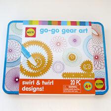 Alex Toys Gear Art Travel Tin Set With 9 Gears Swirl and Twirl Designs 20 PC Set