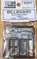 Tichy Train Group #2681 (N Scale) Billboard Alka Seltzer 1937 (1:160th Scale)