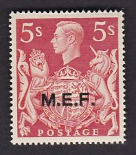 British Occupation Italian Colonies MEF ovpt KG6 5/- 1943 SGM20 UM MNH**