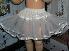 "White Net Petticoat  22-23"" Doll clothes fits Ideal Saucy Walker or Pedigree"