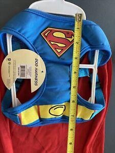 DC Comics Originals~Superman Dog Harness W/Cape~Small~NWT