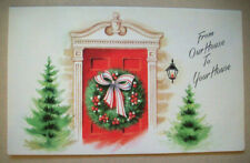 60's Add a photo  front door our house to your house Christmas greeting card 7H