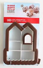 Sweet Creations 3D Mini Gingerbread House Cookie Cutter, Christmas