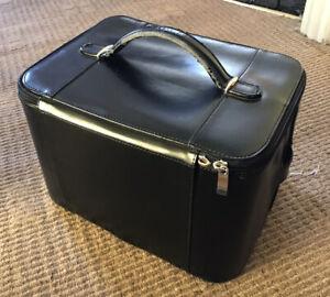 Pierre Cardin Black Faux Leather Beauty Vanity Case Box