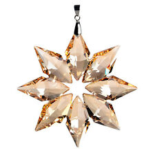 Crystal Glass Champagne Snowflake Suncatcher Prisms Wedding Ornament Gifts Decor