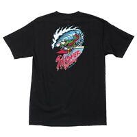 Santa Cruz Keith Meek WAVE SLASHER Skateboard T Shirt BLACK LARGE