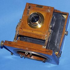 HOUGHTON LONDON TROPICAL VICTO VINTAGE FIELD CAMERA TEAK WOOD & BRASS