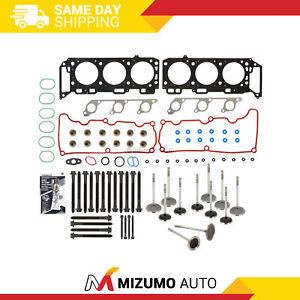 Head Gasket Set Intake Exhaust Valves Fit 00-03 Ford Mazda Mercury 4.0L SOHC