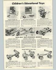 1956 PAPER AD Wen Mac Gasoline Gas Motor Model Boat Plane Race Car Revell Models